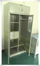 Unique Bedroom Design Top Cabinet Mirrored Steel Wardrobe Price
