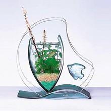 Clear stand mini plastic aquarium fish tanks