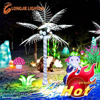 decorative coconut tree with lighting/ lighted coconut palm tree 2014 new products