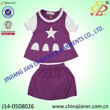 Jianer nueva llegada 100% de algodón de verano los niños niñas de prendas de vestir