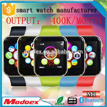 Cheapest 64K color of display bluetooth 6 hours talk time watch phone with multi language