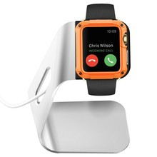 Hot selling TPU and Aluminum watch stand for apple with creative design