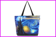 Wholesale 2015 new advertising gifts digital printed 100% cotton canvas tote bag