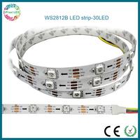 flexible multi-color rgb 30leds/m led strip WS2812B individually control