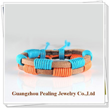 (PLL-1015290)Young people style colourful leather bangle