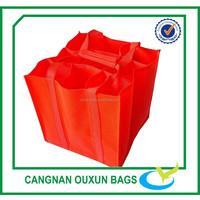 Wholesale eco-friendly professional non woven 9 bottles wine bag