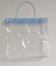 green transparent pvc small cosmetic hand bag