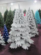 factory supply snowing xmas tree popular flocking christmas tree