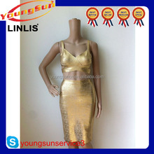 gold priting eveing dress online shopping in promotion for Christmas!
