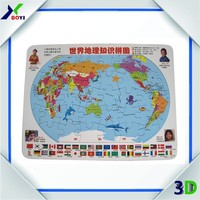 Children Educational World Map Jigsaw Puzzle Mat