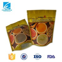 Airtight custom printed stand up pouch spice bag with zip