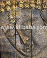 Carving Wood Of Buddha Face