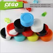 Heat-resistant food grade silicone container box ecig wax vaporizer pen silicone wax jar dab cosmetic container