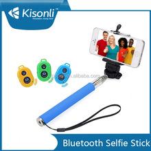 Wireless remote selfie stick/selfie stick extendable hand held monopod