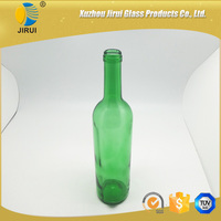 750ml dark green glass wine bottles