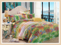 Dubai comforter quilt cover and bed sheet flower wholesale reactive printed bed sheets