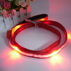 Pet Collar Flashing LED Lighted Dog lead, Dog Harness/Pet Leashes