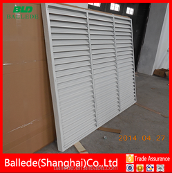 aluminum fixed louver privacy fense