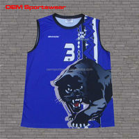 sublimation printed high quality men team volleyball uniforms