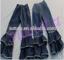 Wholesale high quality ruffle pants baby leggings unisex triple layer ruffle pants persnickety girls ruffled leggings .