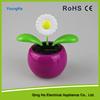 newest Solar flower daisy solar powered swing flip flap dancing flowers, car decorative gift sun doll factory wholesale