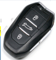 High quality 3 buttons remote car key 433mhz with emergency key with logo for citroen key Citroen DS 5 car remote key