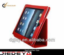 Folio book leather tablet case for ipad.
