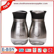 Elegant Designed 4 Inch High Grade Stainless Steel Salt and Pepper Shakers