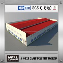 Qatar Big Project Modular EPS Sandwich Panel Prefab Steel Structure Warehouse Workshop Buildings