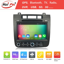 Pure Android 4.4.4 System Car DVD Head Unit For VW TOUAREG Best Selling HuiFei