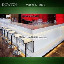 Pure White Dining Bar Counter top for restaurant