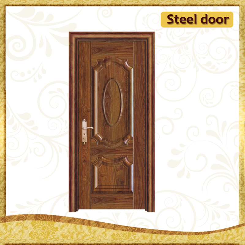 standard size india security door solid frosted glass