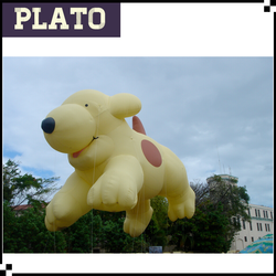 45' custom helium cute inflatable giant puppy, inflatable spot the dog for parade
