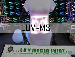 2013 year China top manufacturer of sound-reactive rechargable led t shirt