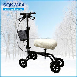 Foldable for foot injury CE Approval knee scooter disabled scooter with front cargo box