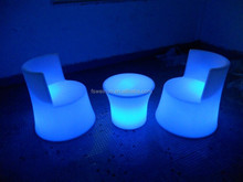 Modern pe bar sofa /Hot sale led leisure sofa/Rechargeable plastic leisure sofa