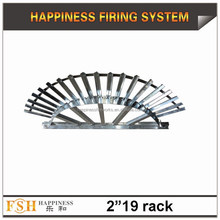 "Liuyang Happiness 2"" 19 shots fan-shaped aluminum display rack"