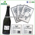 adhesivo de color rojo vino etiqueta de la botella