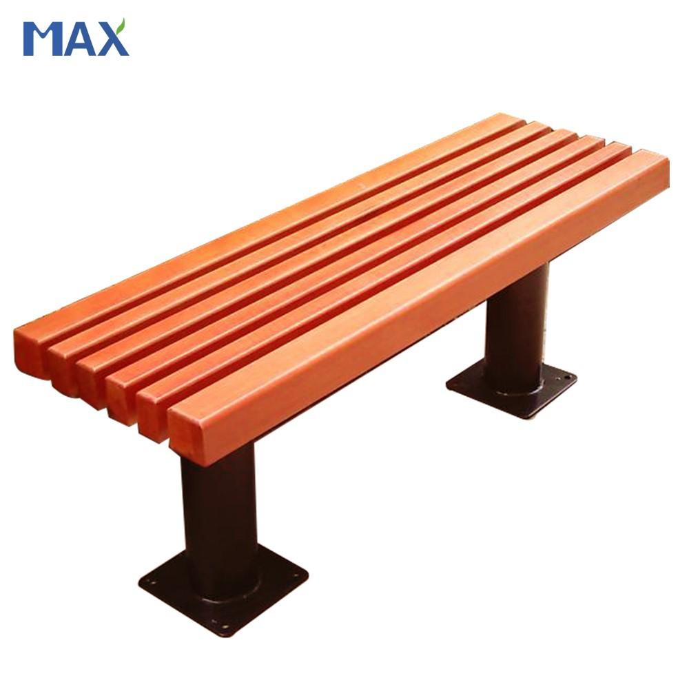 Park Wood Plastic Composite Slats Wooden Bench Design