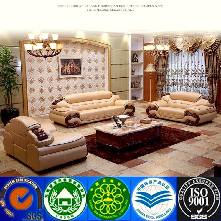 Ergonomic Living Room Furniture Leather Sofa Luxury European Style Sectional Sofa Victorian