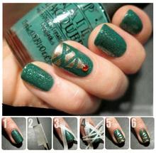 1.2cm*17m self-adhesive nail art tape sticker Fahion pattern DIY nail adhesive tape