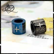 Stainless Steel Round Ring Laser Engraving Bible Pendant