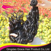 human hair natural virgin Peruvian wavy hair weft large stock
