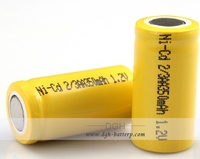 Rechargeable 2/3AA 350mah 1.2v Nicd Battery