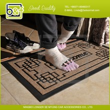 2015 New design welcome print foot massage floor mat