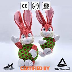 Plush dog toy rabbit shape dog chew toy