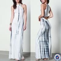 huilin apparel summer dress manufacturers women long dresses tie dye cut out maxi evening dress