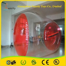 1.0mm thickness PVC/TPU inflatable water roller, durable floating water wheel, fashionable walking roller