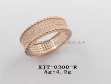 Single Clear CZ Ring Fashion Jewelry Hot Sale Gemstone Jewelry
