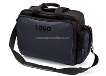 dark blue computer tool bag with sholder strap